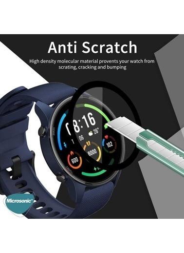 Microsonic Microsonic Xiaomi Mi Watch Tam Kaplayan Temperli Cam Full Ekran Koruyucu Siyah